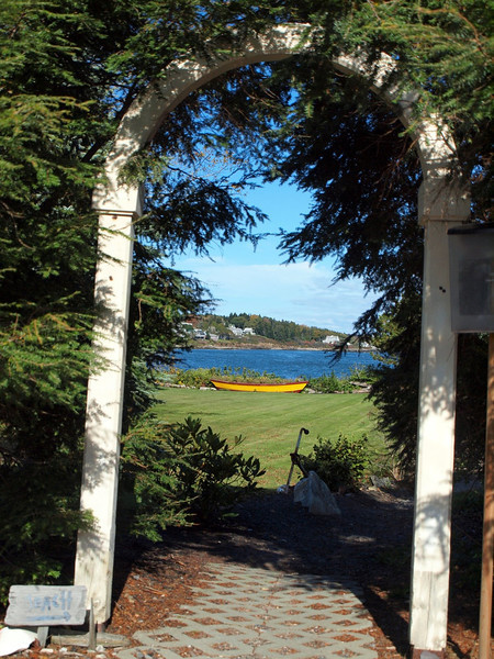 "Entrance to the ""Wee Beach"" - Bailey Island"