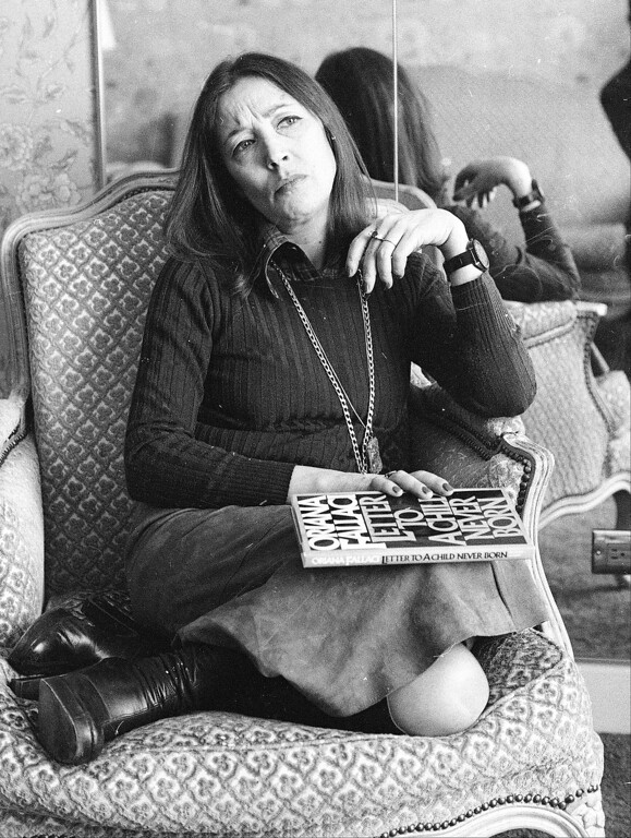 . Italian veteran journalist and writer Oriana Fallaci, a former war correspondent best known for her uncompromising interviews and provocative stances, in an undated photo. (AP Photo)
