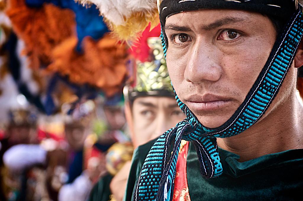 "Traditional ""Danza de la Pluma"" Dancer - La Guelaguetza - Oaxaca, Mexico"