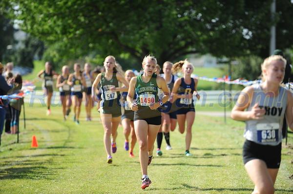 Girls' Varsity Start/Mid Race - 2017 OU Golden Grizzly HS Invite
