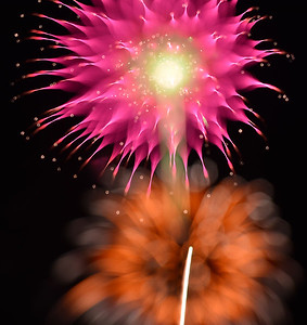 fireworks in Binney Park 7/3/15