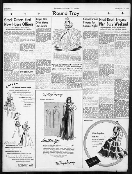 Daily Trojan, Vol. 31, No. 142, May 10, 1940