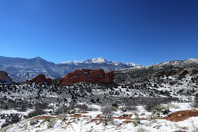 Garden of the Gods and Pikes Peak, Colorado - February 20th, 2019