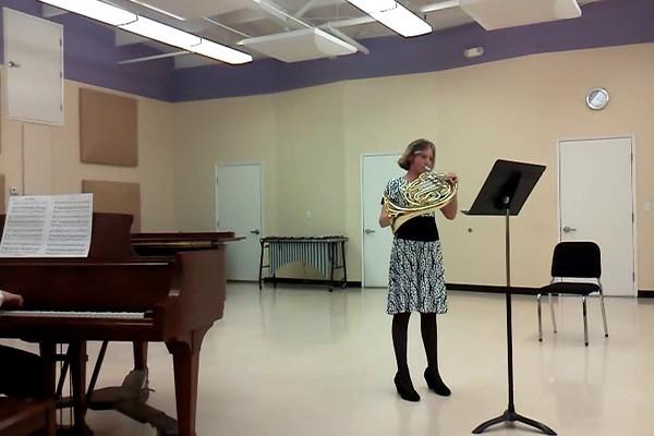 Emma French Horn Recital 2012