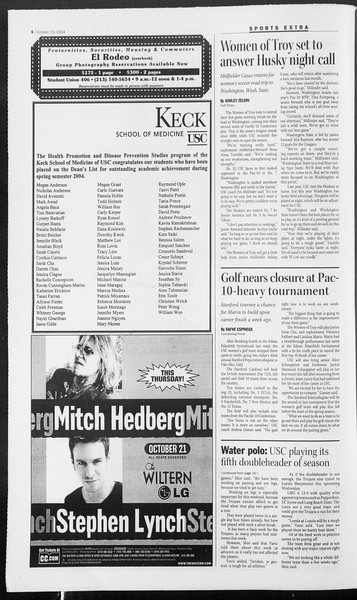 Daily Trojan, Vol. 153, No. 37, October 15, 2004