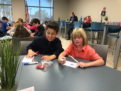 3-23-2018: Buddy Day Sixth Graders with Second and Third Graders