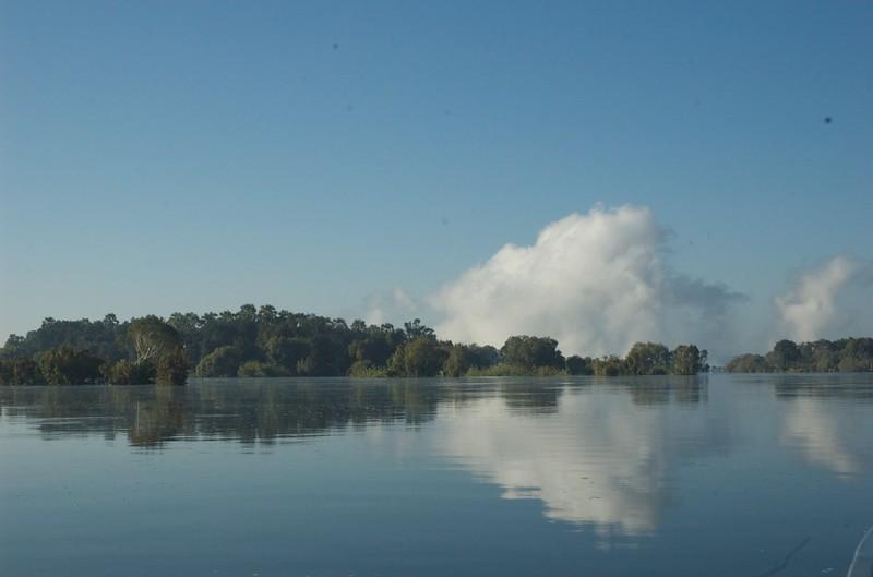 Mist over Victoria Falls, Zambezi River - Leslie Rowley