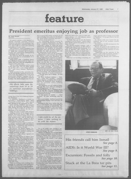 Daily Trojan, Vol. 106, No. 12, January 27, 1988