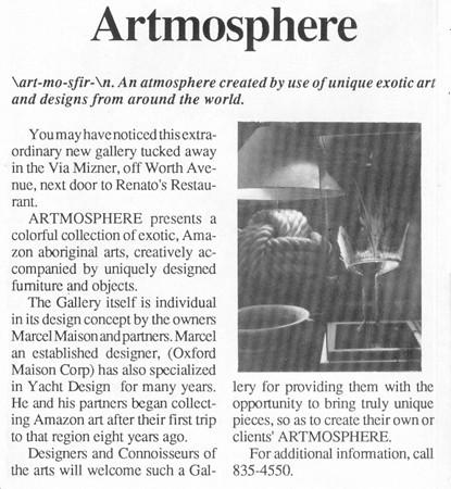 Artmosphere artcile about interior design Palm Beach Daily News