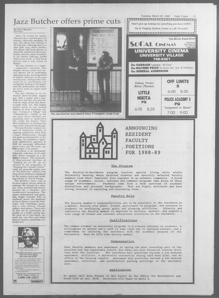 Daily Trojan, Vol. 106, No. 49, March 22, 1988