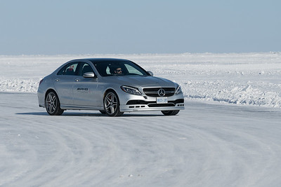 Mercedes Winter Ice Driving - Lake Winnipeg