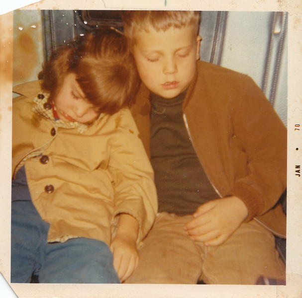 Andy and Tammy Asleep in Car 1970.jpg