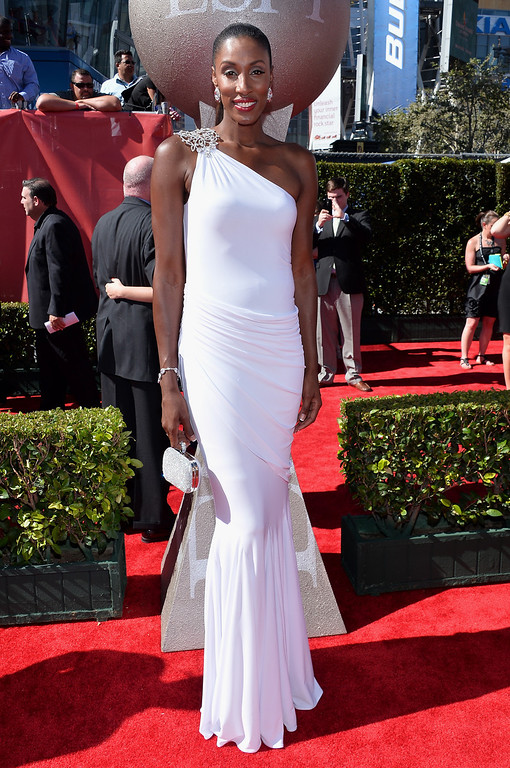 . Former WNBA basketball player Lisa Leslie attends The 2013 ESPY Awards at Nokia Theatre L.A. Live on July 17, 2013 in Los Angeles, California.  (Photo by Alberto E. Rodriguez/Getty Images for ESPY)