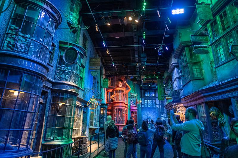 Diagon Alley set at Warner Bros. Studio Tour London