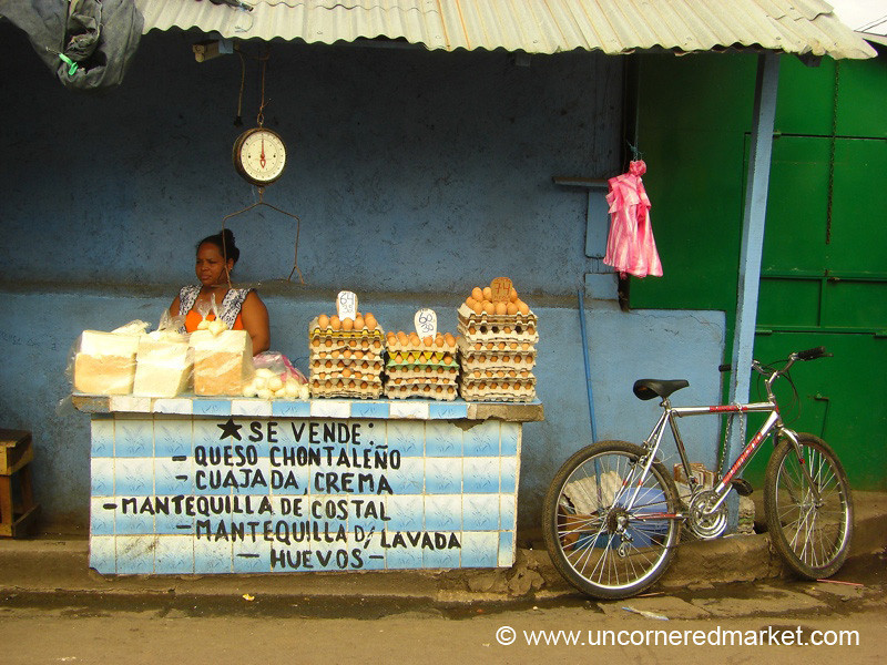 Eggs and Cheese for Sale - Granada, Nicaragua