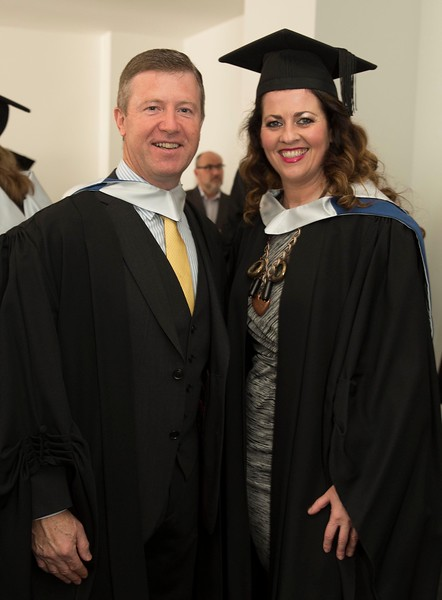 28/10/2015 Image Free to Use. Conferring at Waterford Institute of Technology. l-r; John Warren from Waterford and Feana Walshe from Portlaw Batchelor of Arts in Community Education & Development.Photo; Mary Browne