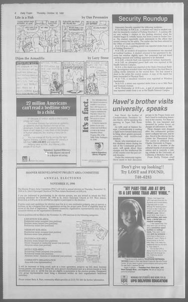 Daily Trojan, Vol. 113, No. 32, October 18, 1990