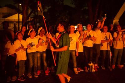 Scouting 2017 Lighting the Bonfire