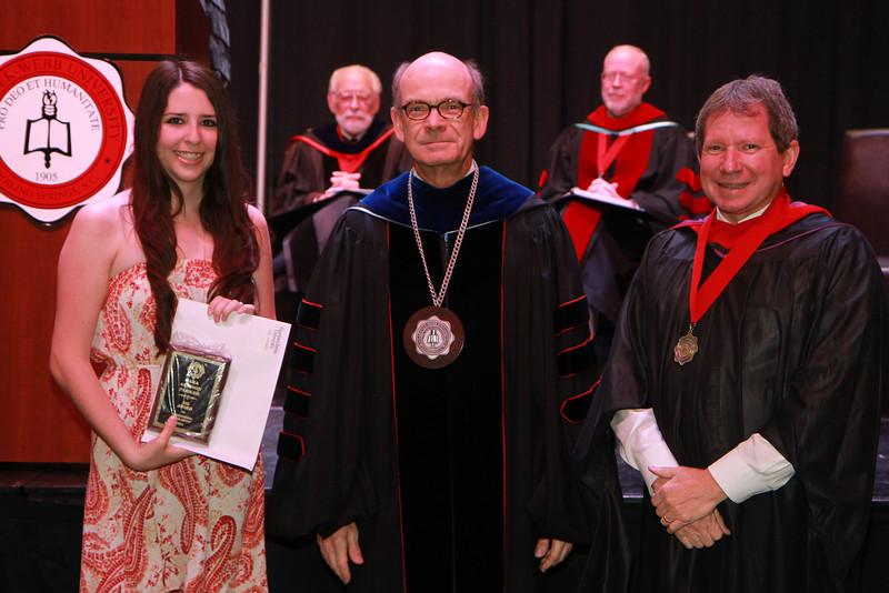 59th Academic Awards Day; Spring 2014. American Sign Language Award: Lara Allison Parker