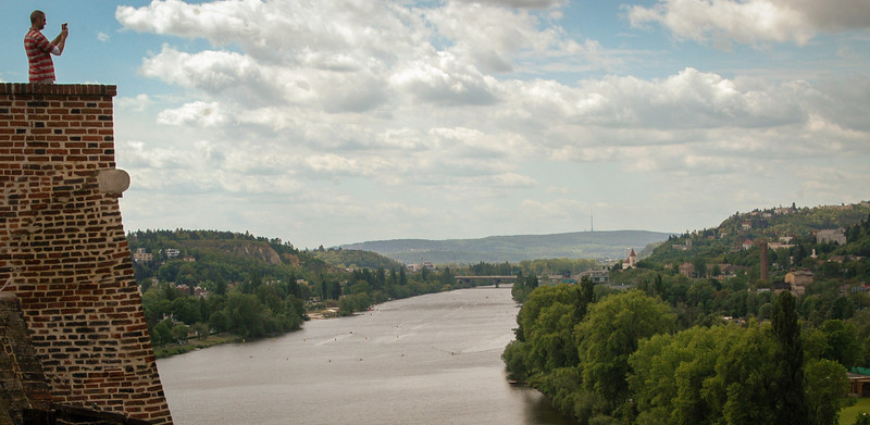 Prague: Vlatava River, looking north from Vysehrad