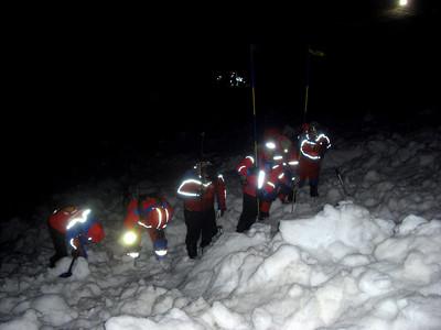 Snjóflóðasamæfing leitartækniflokka 14. mars 2011