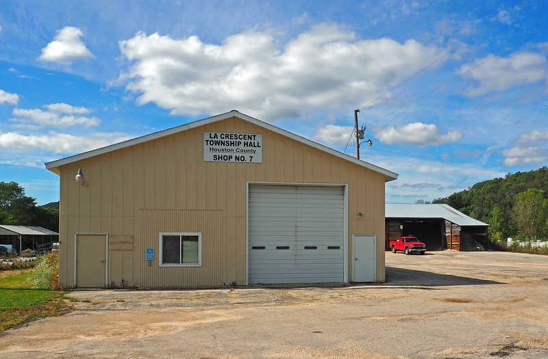 La Crescent Town Hall and yard