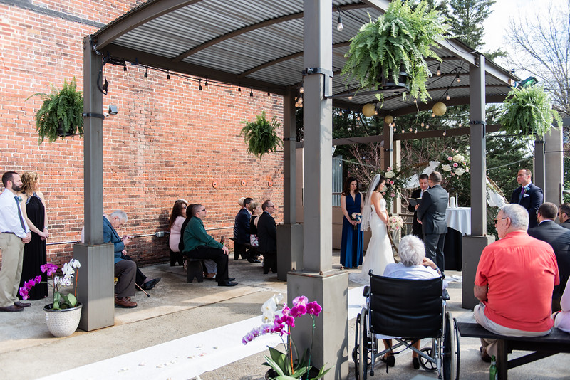 """Nicole& Clif // Please Tag: """"Shabby Chic Event Rentals"""" - they supplied the circular arbor and benches. Location: Barrel House 39 North Third Street Chambersburg, PA 17201 //"""