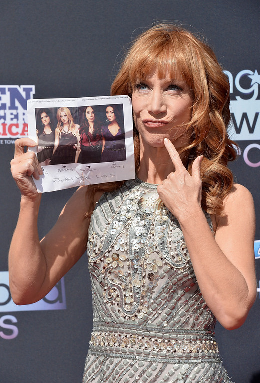 . TV personality Kathy Griffin attends CW Network\'s 2013 2013 Young Hollywood Awards presented by Crest 3D White and SodaStream held at The Broad Stage on August 1, 2013 in Santa Monica, California.  (Photo by Frazer Harrison/Getty Images)