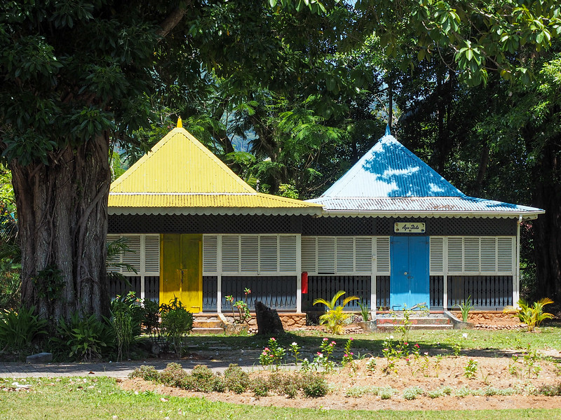 Souvenir huts on Mahe Island
