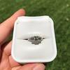 1.15ctw Emerald Cut Diamond Trilogy Ring 20