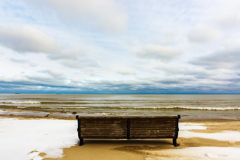 Bench on Lake Michigan