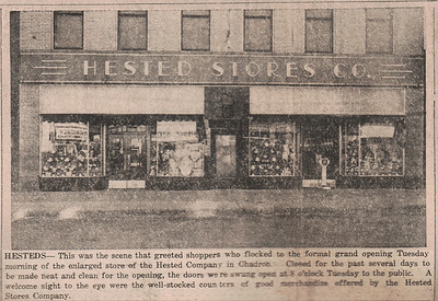 Toys, cards, roasted peanuts......and candy!  1946 at Hested's!