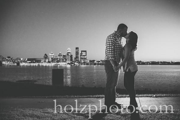 Nikki & Tony B/W Engagement Photos