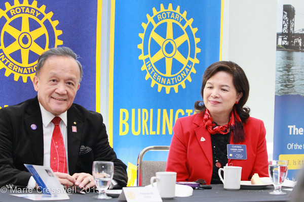 Rotary Clubs of Burlington Lunch with RI Prez Gary Huang