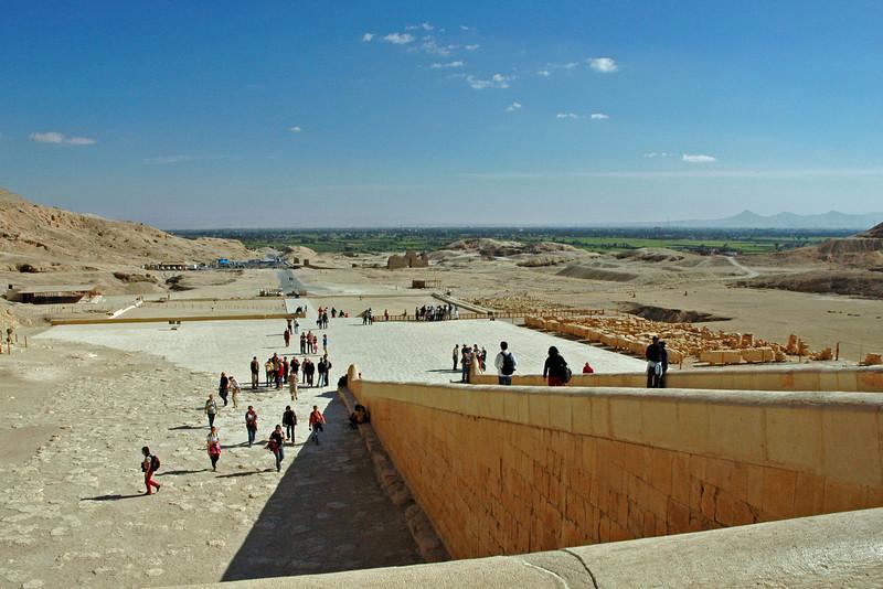 leaving temple of hatshepsut