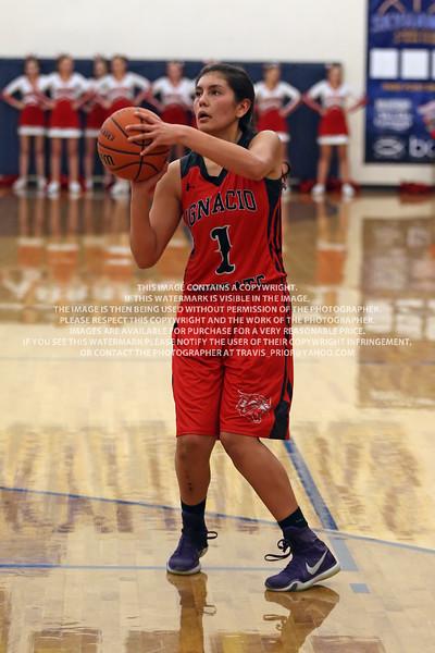 2016 Ignacio Varsity Girl's Basketball vs Durango January 18