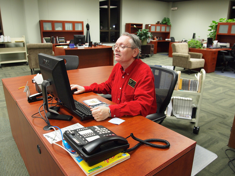 Frank Newton is there for students if they have any needs