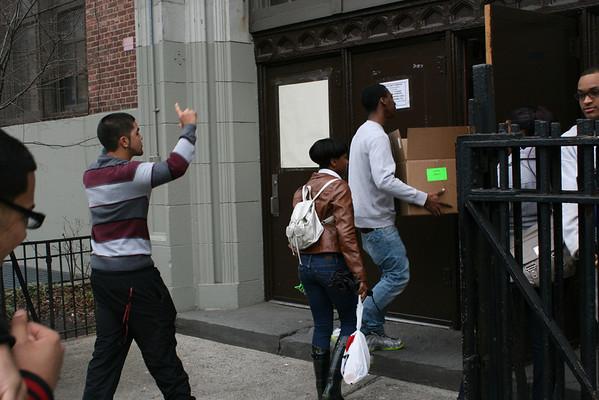 2014 April 4, 2014 Freshmen service trip to PS 70x in the Bronx