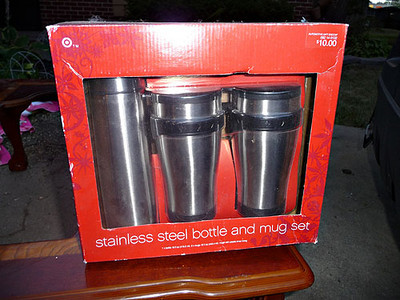 Bottle and mug set, NIB.  $5