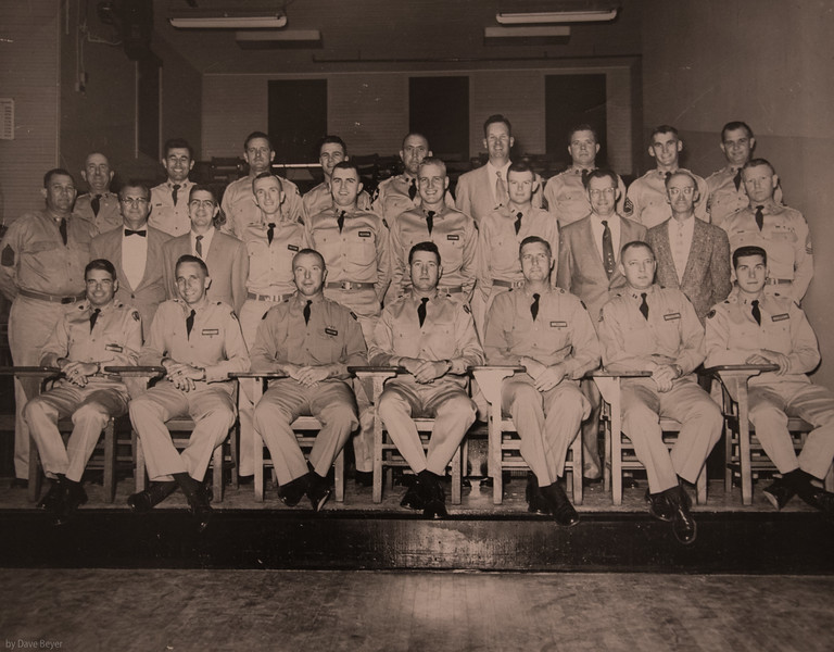 1957, Fort Sill OK, Special Weapons Division, Harry middle row, 4th from left