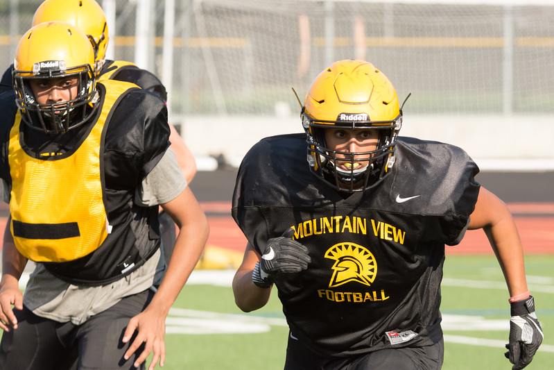 Taken at various pre 2017 MVHS football season practices at Mountain View High School CA