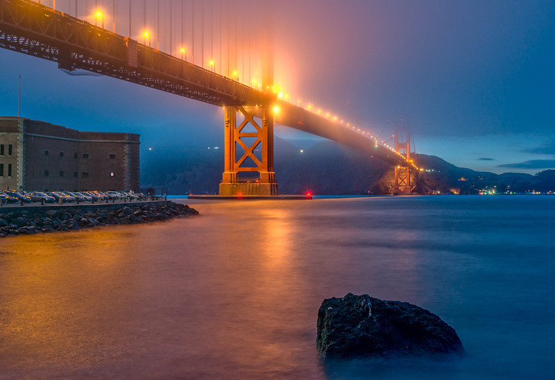 Golden Gate Over Fort Point