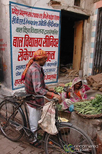 Street Vegetable Stand - Varanasi, India