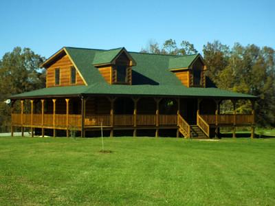 6 x 12 D Log Profile Log Homes