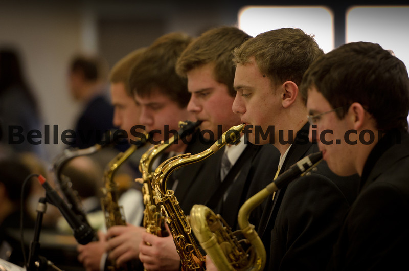 Ben Zobel performing on Tenor Saxophone with Jazz 1 at the Newport High School Jazz Gala 2012