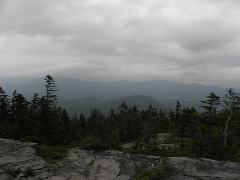 Cranmore shows itself, Kearsarge hides in the clouds