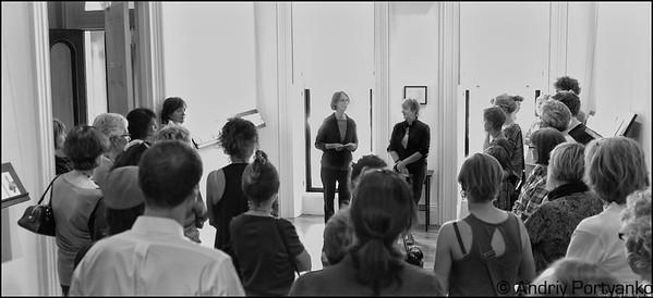 "Presentation of the project by Katherine Kavanaugh & Jennifer Wallace.  ""One Hundred Footsteps"""