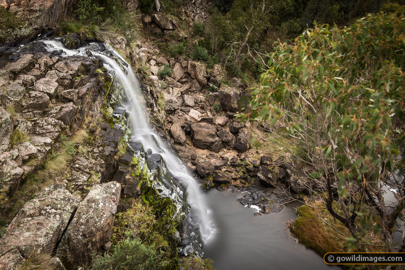 Little River falls, Snowy River NP. This is the first drop in a 600m descent to the coast.