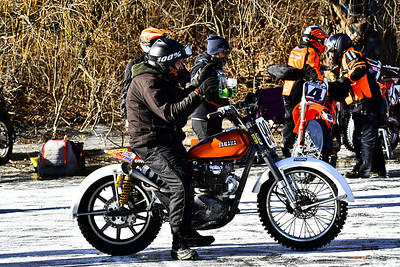 2018 High Voltage Motorcycle Ice Races Wilson Park