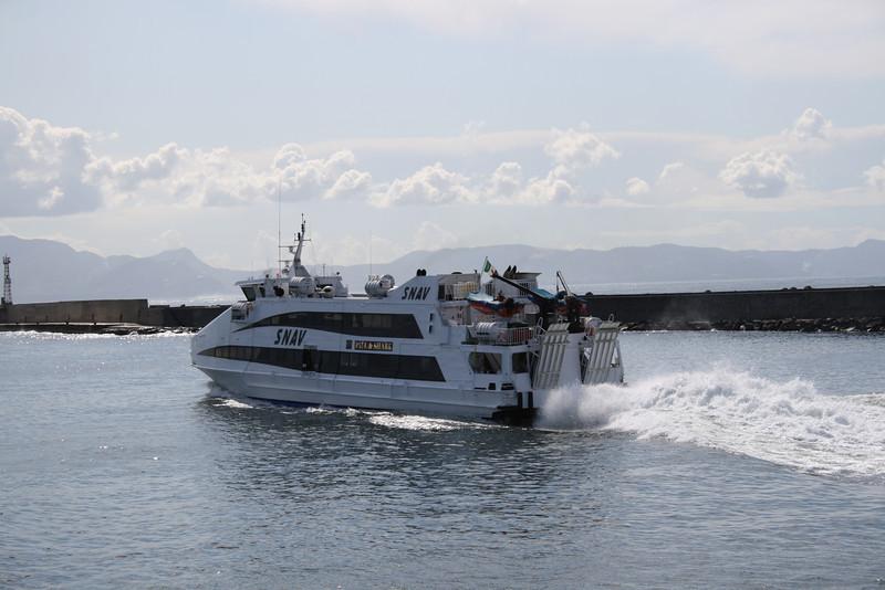 2011 - SNAV ORION departing from Napoli to Capri.